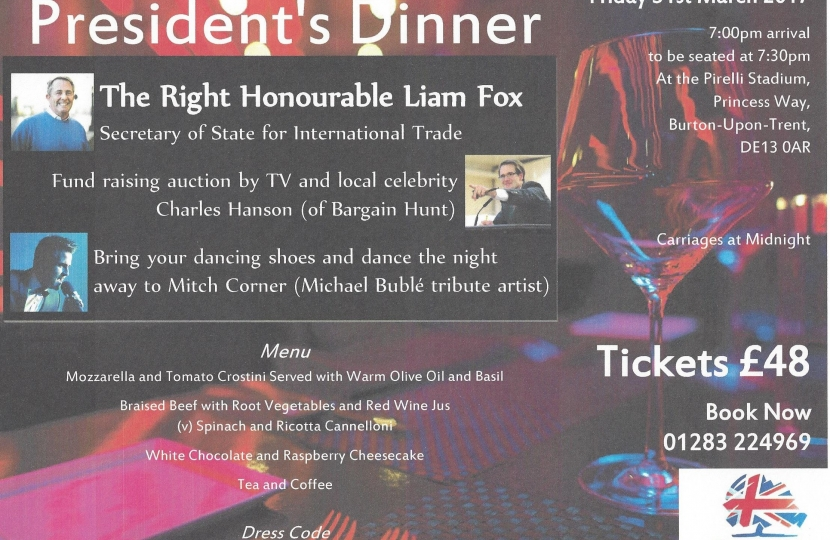 SDCA Presidents Dinner Invitation