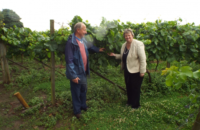 Heather with Vinyard owner John Goodall