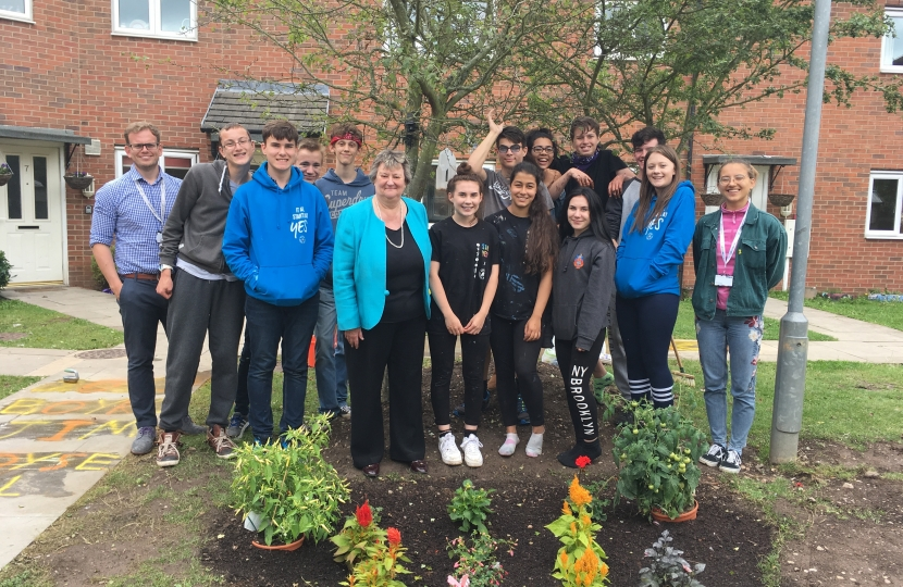 Heather Wheeler MP and members of the NCS