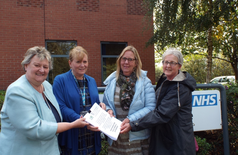 Delivery of the WI petition to the East Staffordshire CCG