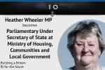 Heather Wheeler MP is appointed as Parliamentary Under Secretary of State at the Ministry of Housing, Communities and Local Government